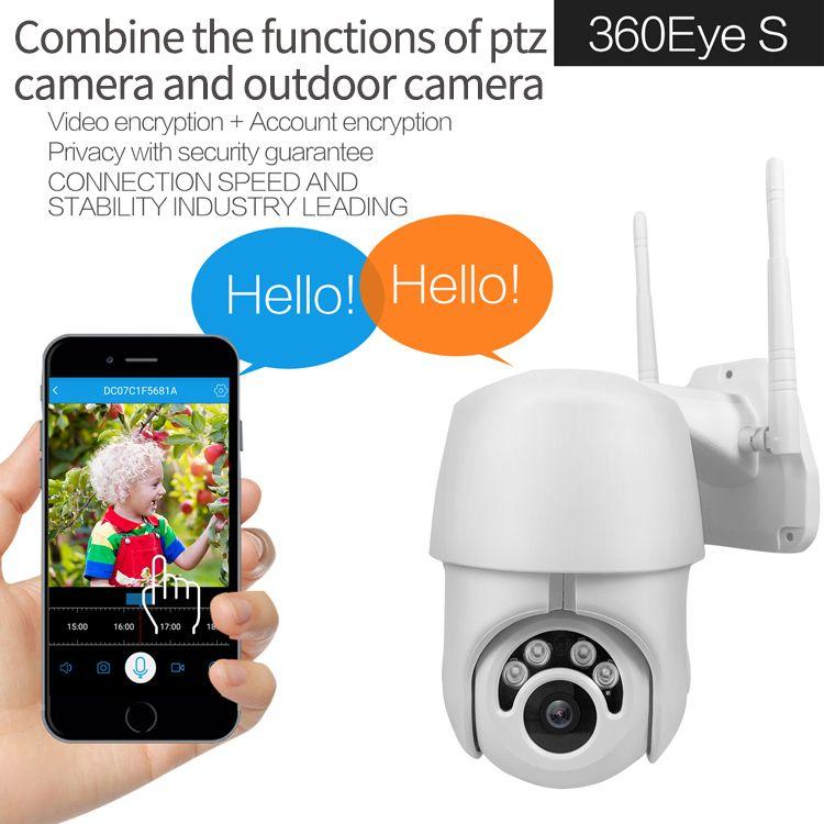 HD 1080P 클라우드 스토리지 무선 와이파이 PTZ IP 카메라 방수 야외 스피드 돔 카메라 IR 밤 비전 비디오 감시 CCTV 캠코더