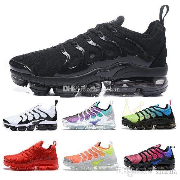 2019 Scarpe casual di vendita caldo Colori TN PLUS uomini di alta qualità all'ingrosso delle calzature di sport scarpe da tennis addestratori calza il formato US5.5-11
