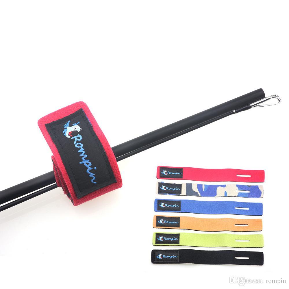 2pcs Fishing Rod Tie Strap Fishing Rod Protective Bands Self Adhesive Tape