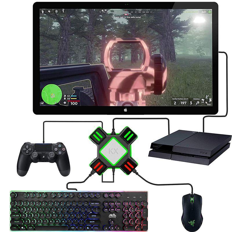 Periferiche di gioco USB dell'adattatore del convertitore del video gioco della tastiera adattatore mouse per Nintendo Switch / Xbox / PS4 / PS3