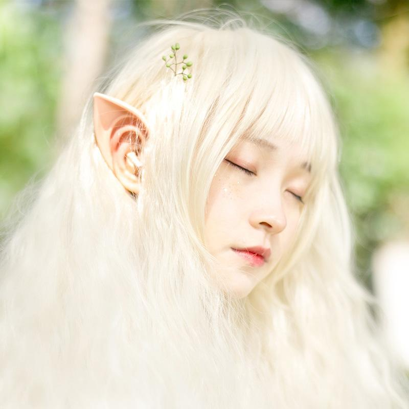 New 1 Pair Mysterious Angel Elf Ears Halloween Costume Props Cosplay Accessories Latex Prosthetic False Ears Party Supplies