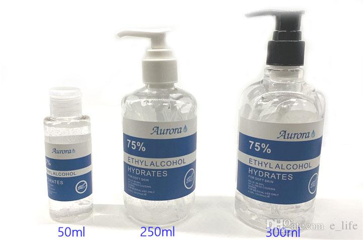 SIRUINI Hand Sanitizer 30ml 60ml 250ml 300ml Disposable Gel Aurora Hand Sanitizer Travel Gel Disinfection Mini Sanitizer
