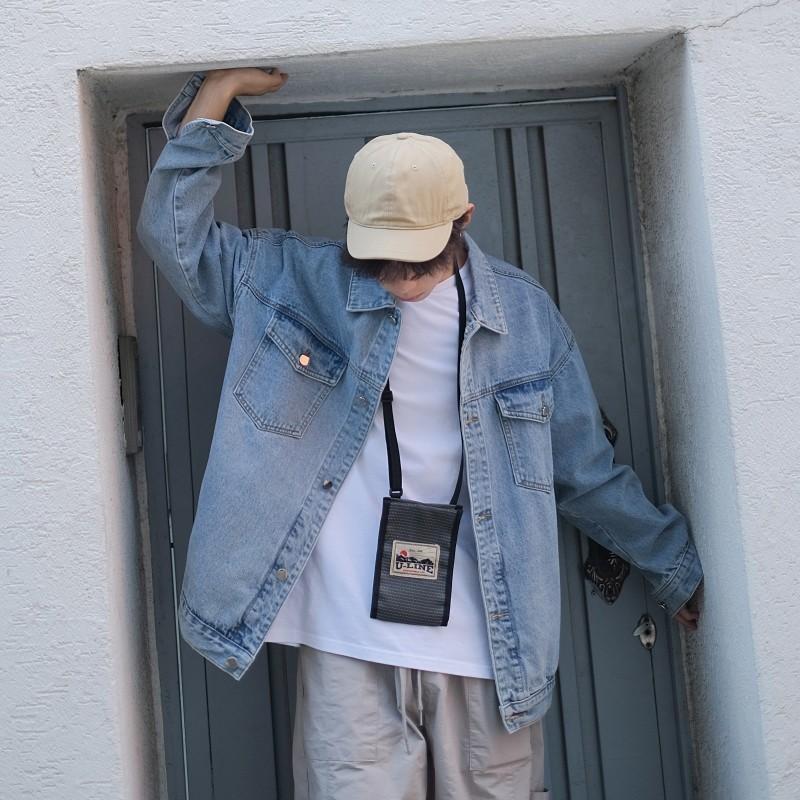 Herbst New Denim Jacket Men Fashion Gewaschene Solid Color Lässige Jeansjacke Mann Street wilder Hip Hop Los Bomber