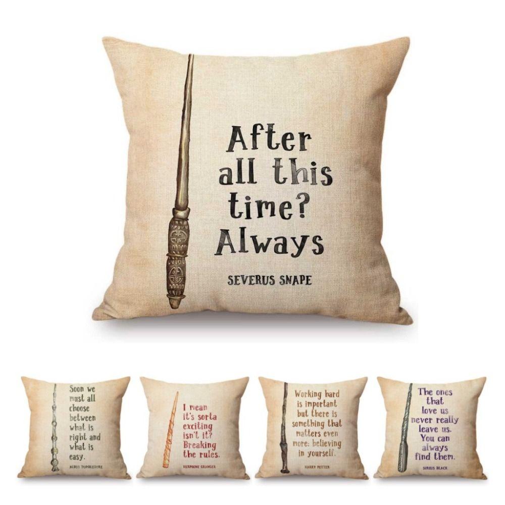vintage harry potter quotes letter print home decoration sofa