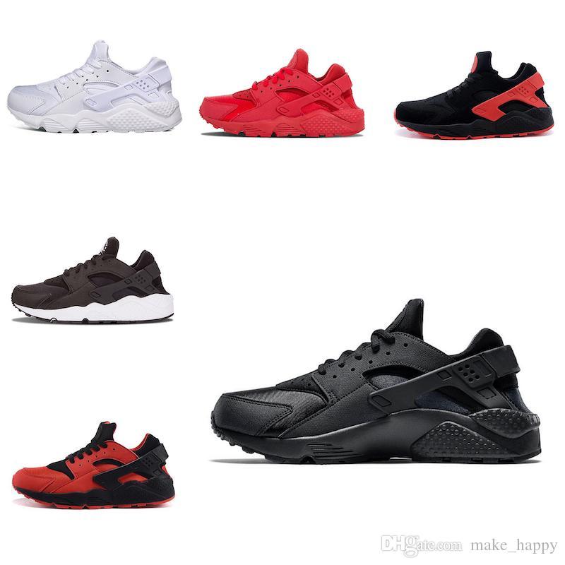 Nike air huarache Haute Qualité classique Huarache Chaussures De Course Pour Hommes Femmes Noir Or Triple Sneakers Huarach 1 Entraîneurs Athlétiques huraches Chaussures De Sport