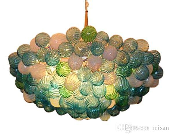Modern LED Home Art Decoration Lampad Lampadari Lampadari Illuminazione Appeso Bulballa Lampadario Blown Murano Pendente in vetro