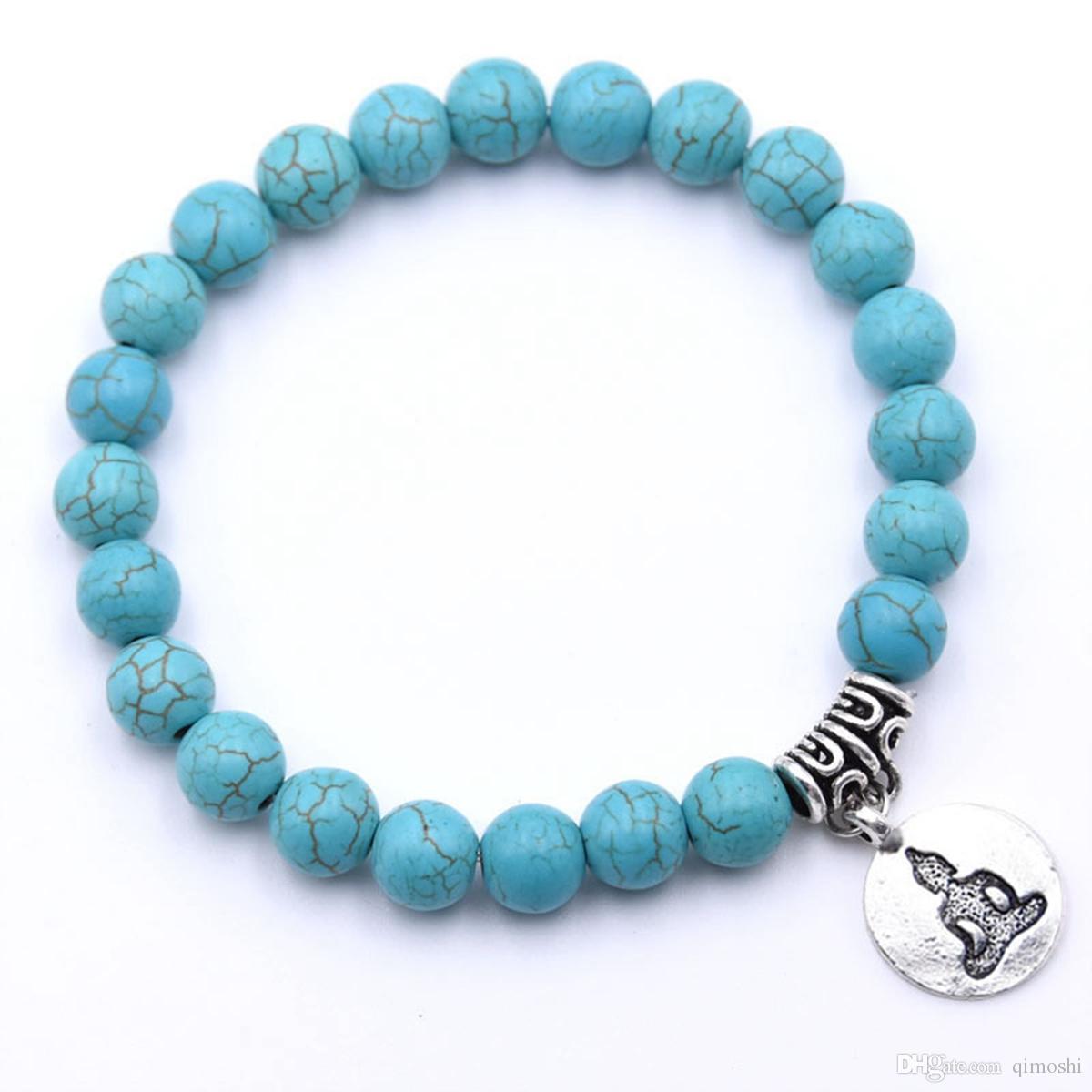 Real Lava Rock Bracelet Ladies Essential Oil Aromatherapy Ideal Stress and Anxiety Buddha Bracelet Meditation Yoga Jewelry