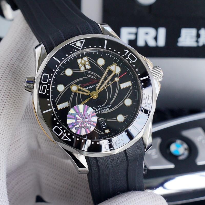 Высокое качество TW взрывной Джеймс Бонд 8800 механизм керамический безель 40 мм дизайнерские часы Часы автоматические механические алмазные часы
