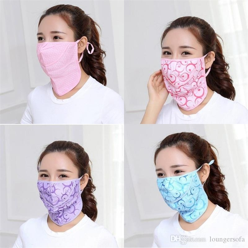 Sunscreen Respirators Breathing Mouth Face Mask Adult Mask Earloop Foldable Reusable Neck Protection 2 4gy UU