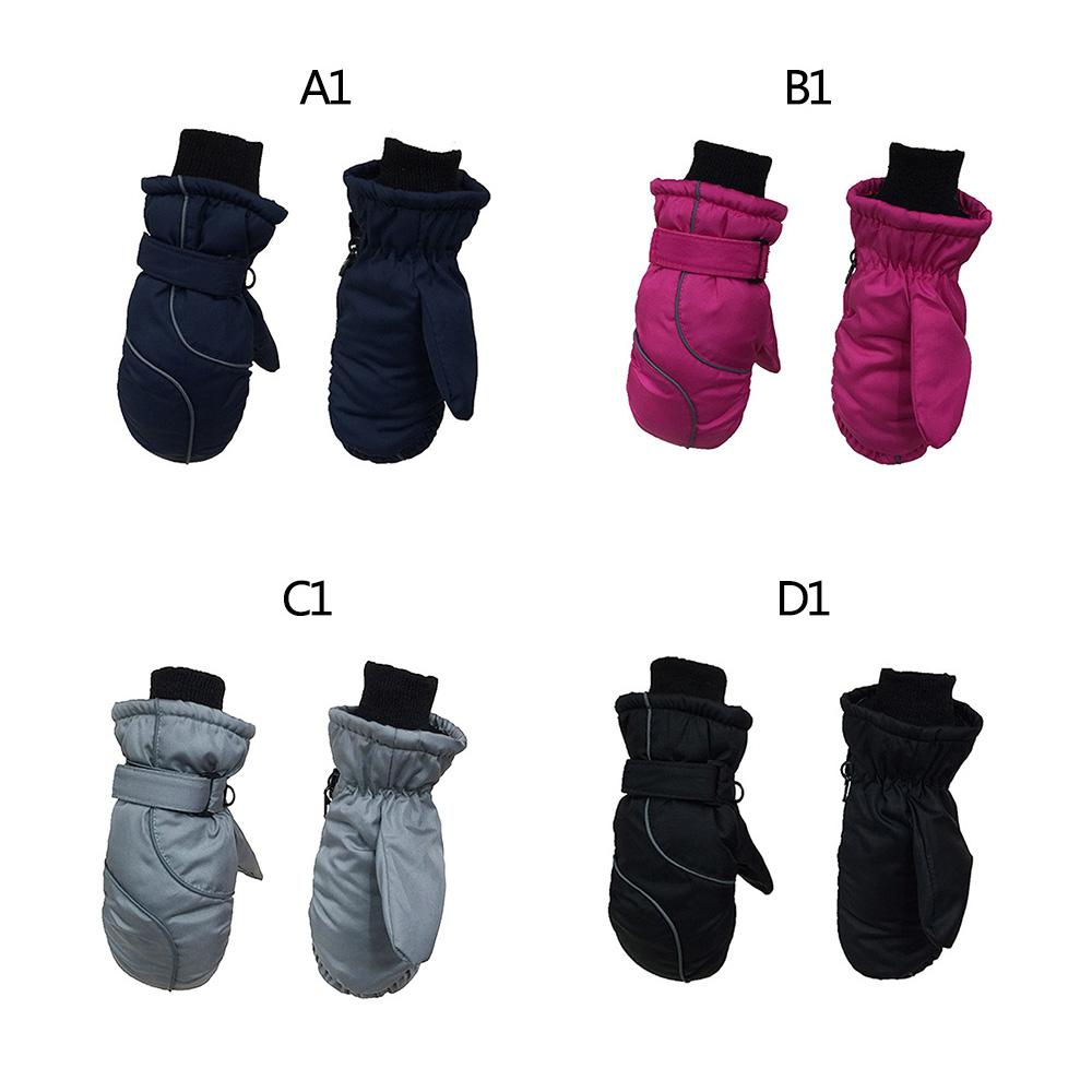Warm Stitching Skiing Gloves Kids Thicken Waterproof Windproof Children/'s Mitten