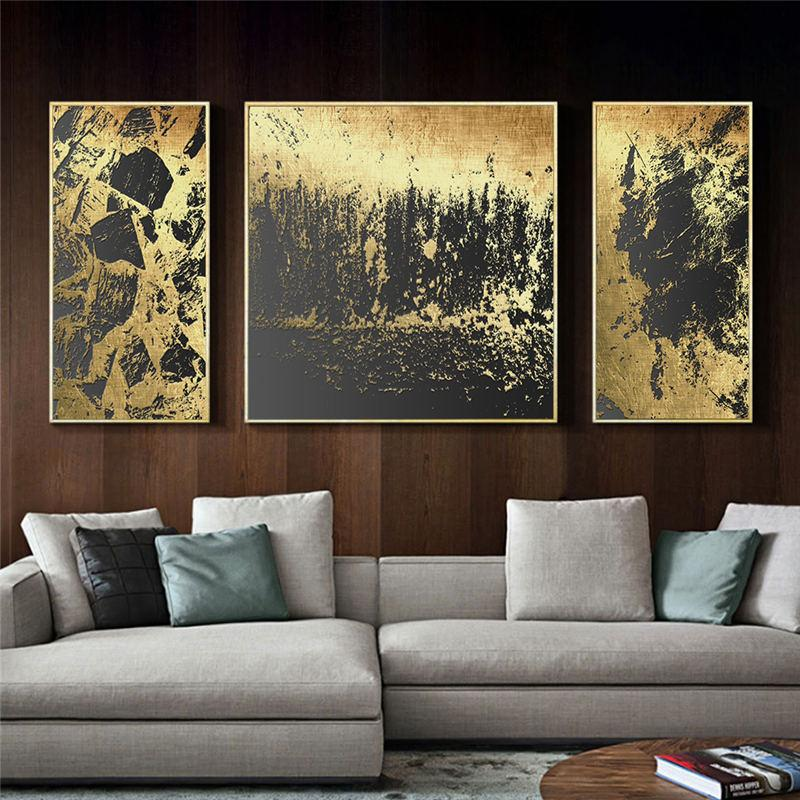2020 Abstract Gold Black Nordic Canvas Painting Picture Home Decor Wall Art Poster Vintage Print Living Room Bedroom Classic Painting From Oopp 24 14 Dhgate Com