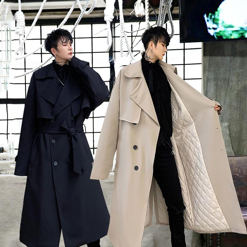 2021 Mens Trench Coats Winter, Knee Length Mens Trench Coat