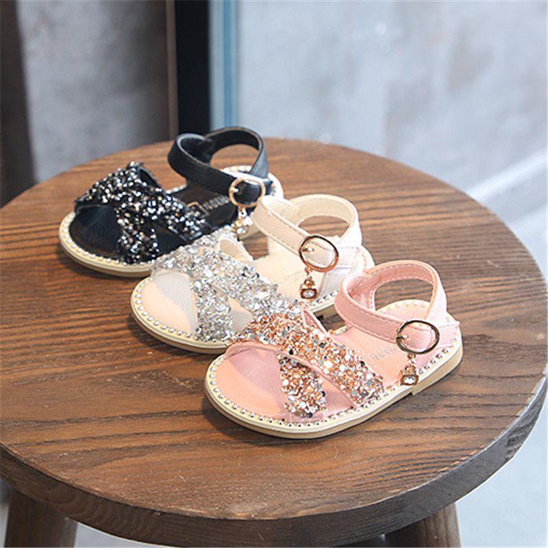 Girl Baby Sandals Sequin Rhinestone