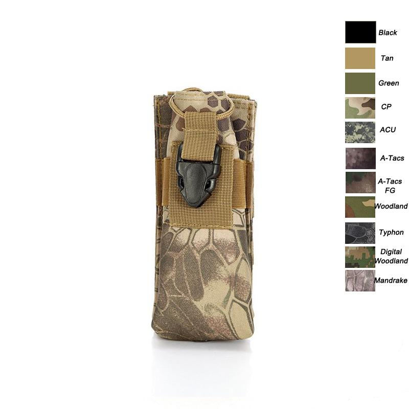 Outdoor Sports Airsoft Gear Molle Assault Combat Hiking Bag Vest Accessory Camouflage Pack FAST Tactical Interphone Pouch NO11-518