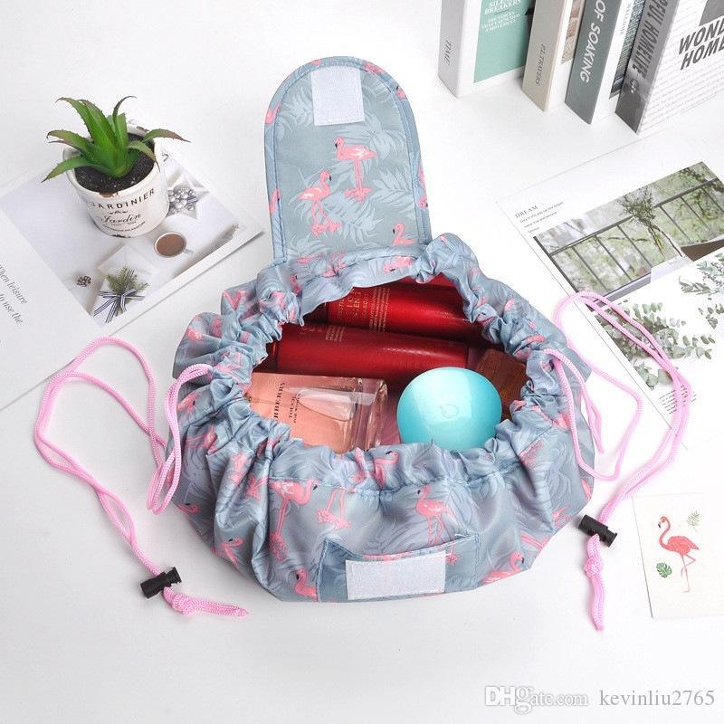 2019 Vely Bags Korea Styles الرباط حقيبة مستحضرات التجميل كسول الحقيبة متعددة الوظائف أكياس غسل ماء 08