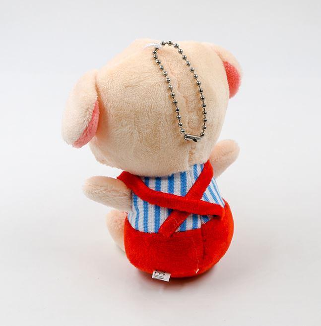1 Pc Cute The Mascot of Pig Year Pig Plush Keychain Plush Doll Toys Keyring Cartoon Animal Plush Toys Pendant Gift