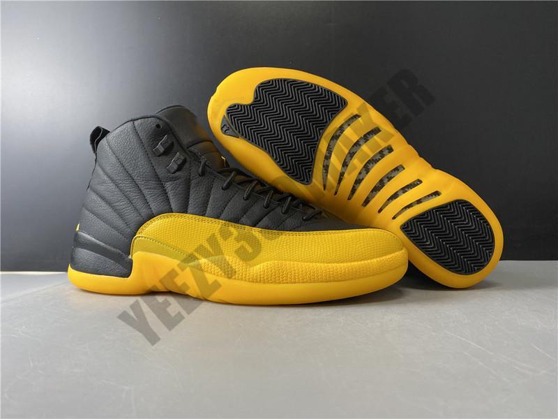 2020 12 Universidade de ouro tênis de basquete 12s Ano do Porco Preto amarelo ouro Marca Desgin olhar de moda Mens 130690-070 Sneakers Desporto