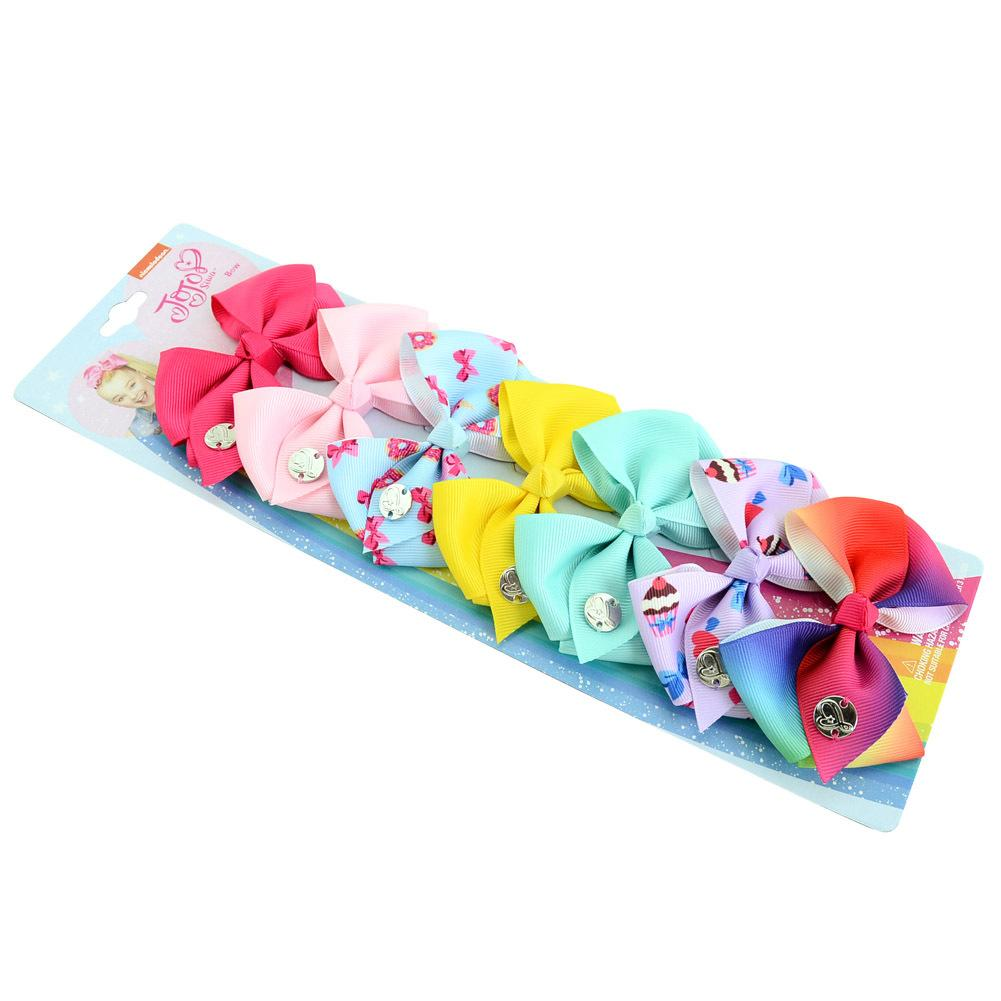 Ribbon Hair Bow Clips Printed Pattern Hairpins Christmas Hair Barrettes Cute Hair Accessories for Girls Baby Party Decorative O64FZ