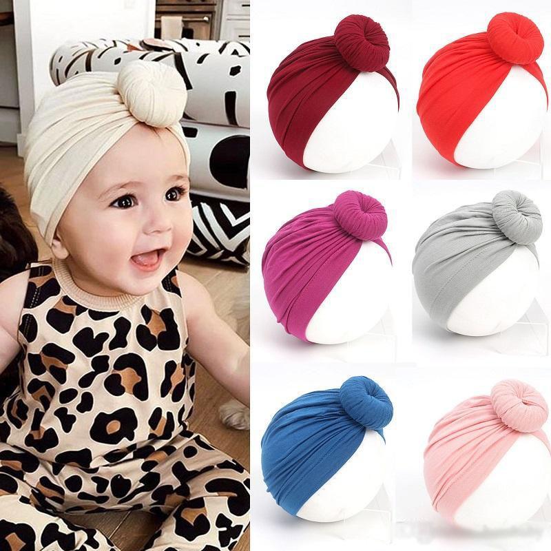 قبعات اطفال حديثي الولادة الغزل كم القبعات 16 تصميم الصلبة اطفال اطفال بنات إكسسوارات مستلزمات حديثي الولادة بوي قبعات