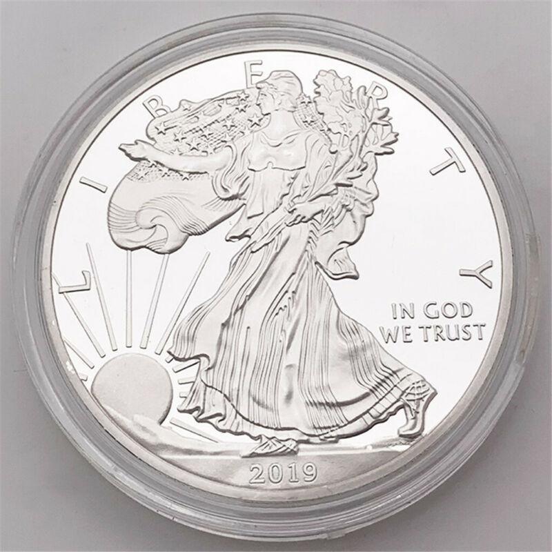 무료 배송 2019 자유의 여신상의 기념 동전 1 온스 고급 실버 1 달러 동전의 수집품 미국 미국 동전 복싱 링