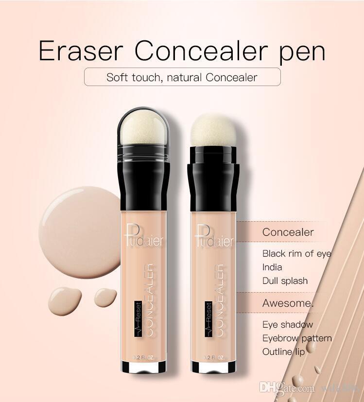 Pudaier 6 цвет корректор ластик ластик осветлить жидкий контур увлажняющий крем глаза корректор лица ручка темные круги корректор