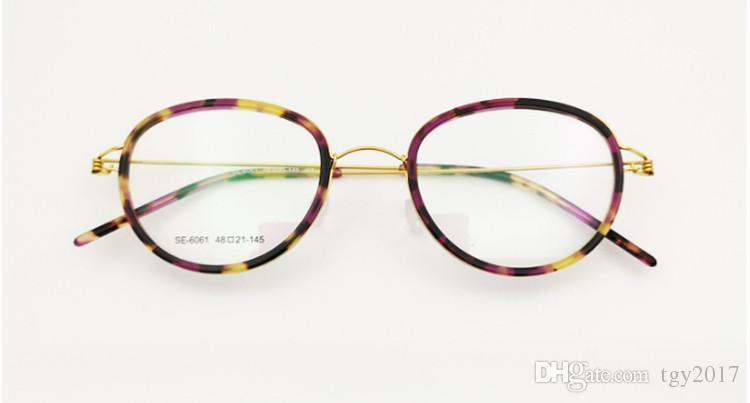 6061 نظارات إطار مصمم بدون برغي مصمم النظارات وجه صغير التيتانيوم 48-21-145 H-RX وصفة طبية النظارات مجموعة كاملة حالة