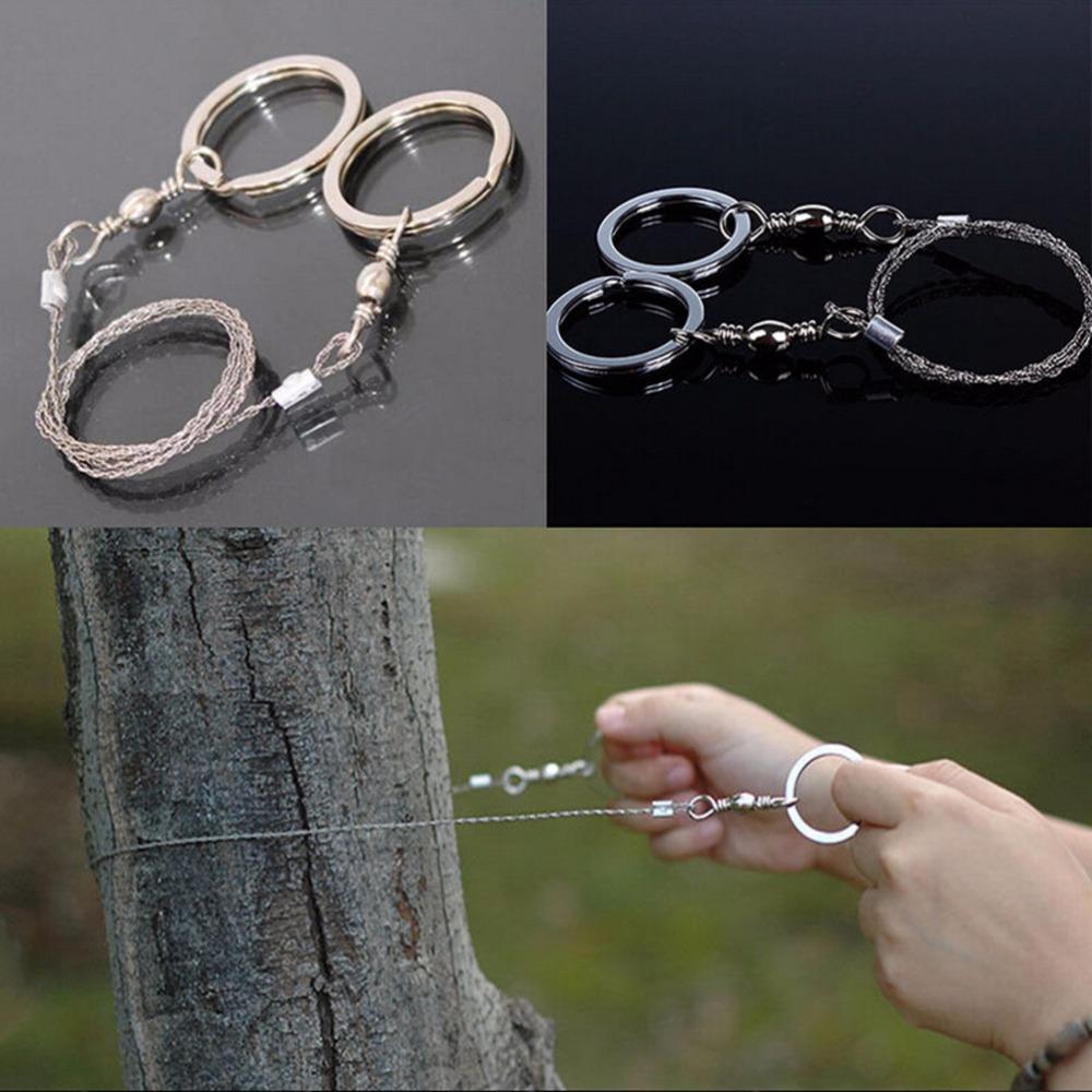 Бесплатная доставка! Спортивные подарки Silver Steel Wire Saw Scroll Saw Emergency Туризм Отдых Охота Открытый инструмент выживания