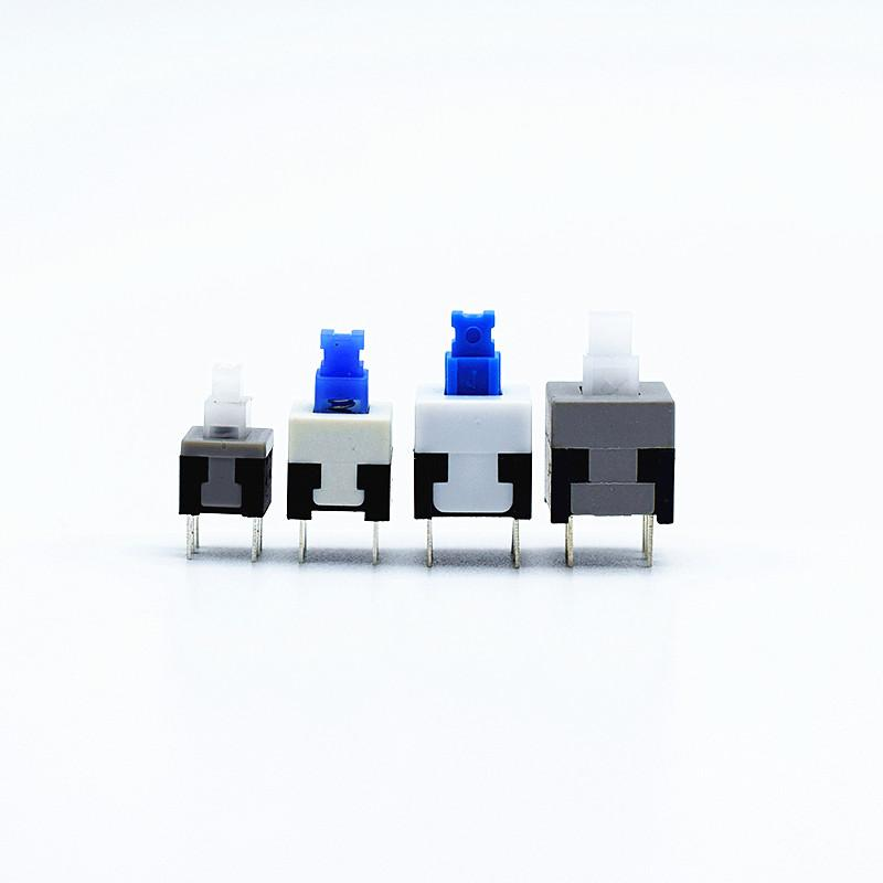 أضواء إضاءة 10PCS 5.8 * 5.8 * 7 7 8 * 8 * 8.5 في 8.5mm الذاتي قفل إفتح دفع اللمس قوة التحول الجزئي كيت 6 دبوس زر مفاتيح الإغلاق