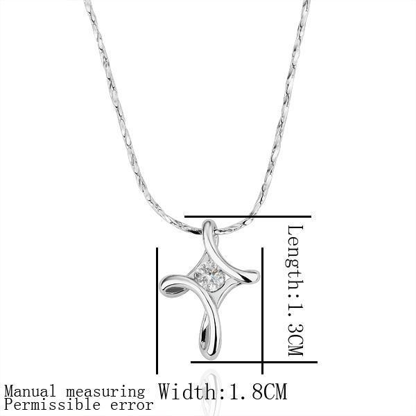 cristallo collana placcata attraversamento modo fini rhinestone oro della collana 18K Nuovo arrivo conveniente collana pendente libera