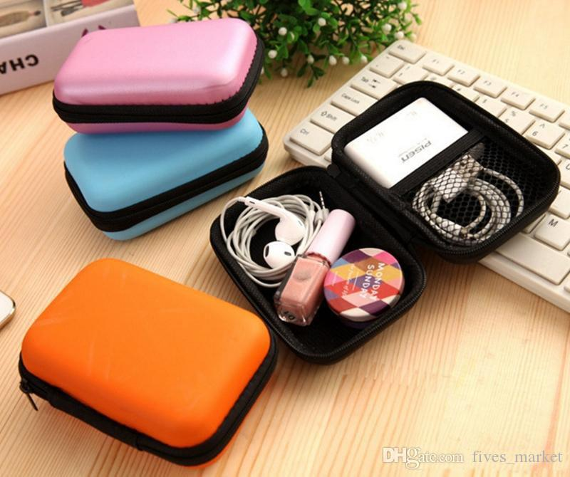 5 Styles Digital Storage Bag Data Cable Zipper Bags Earphone Package Case Mobile Phone Charger Organizer Sundries Travel Storage Bag AN2990