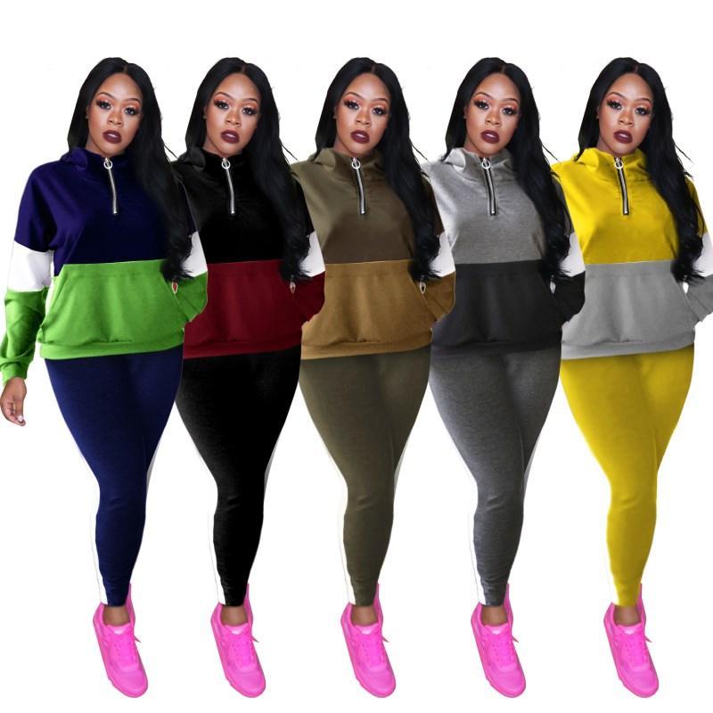 camisa de manga larga 2 piece las mujeres pantalones de chándal conjunto de trajes de ropa deportiva pantalones de chándal de la camisa del suéter medias ropa deportiva klw2864 caliente de la venta