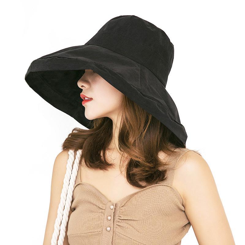Kabarık Kepçe Hat Kadın Erkek Siyah Geniş Brim Açık Güneş kremi Avcılık Şapka Balıkçılık Balıkçı Şapka Bob Yaz Kepçe Şapkalar Kadınlar