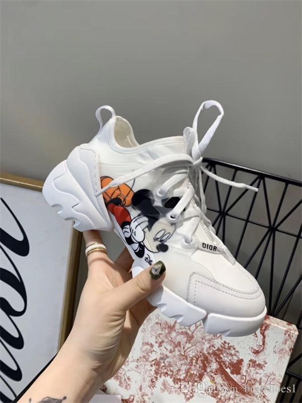 Christian Dior shoes Paris Günlük Ayakkabılar Üçlü S Temizle Sole Eğitmenler Baba Ayakkabı Sneaker Siyah Gümüş Kristal Alt Womens Üstün