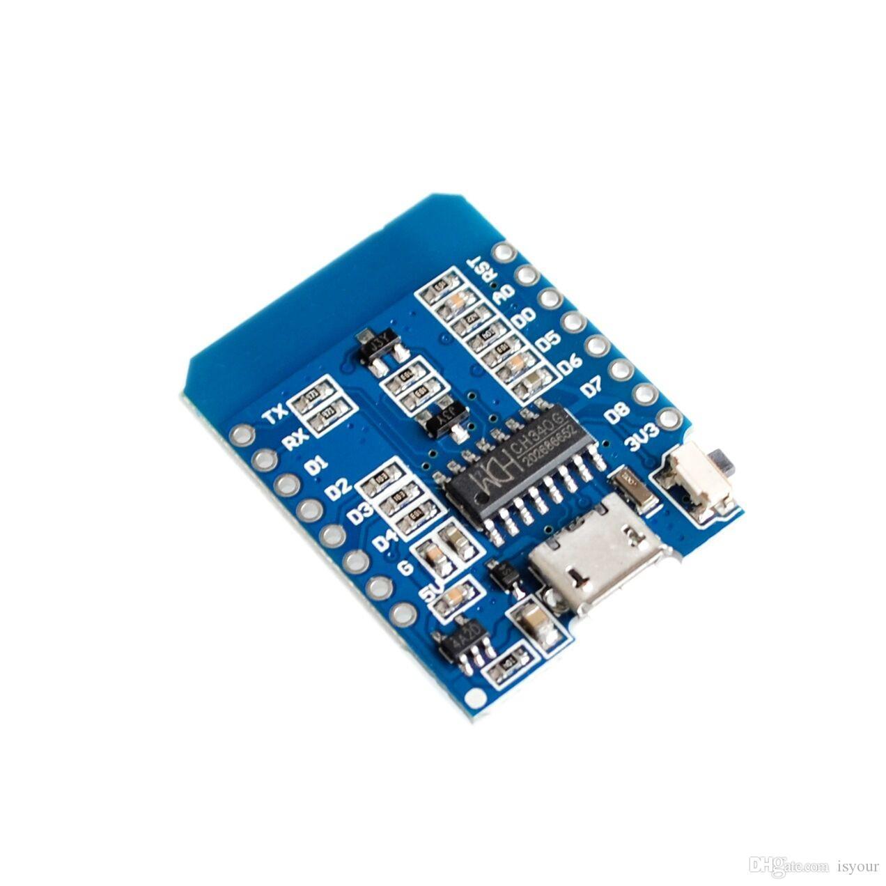 Freeshipping 10pcs D1 mini - Mini Node Mcu 4M bytes Lua WIFI Internet of Things development board based ESP8266