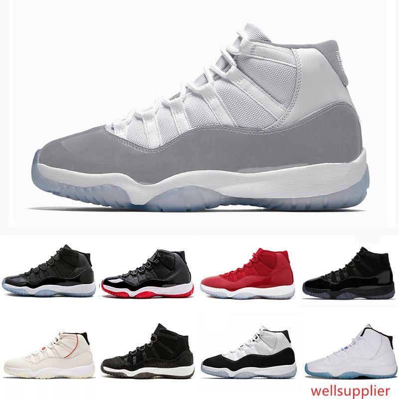 Cheap Snakeskin Concord 11 XI 11s Jeter Uomini scarpe da basket Vaste grigio neutro oliva cappello e abito delle donne mens sport Sneakers 5,5-13