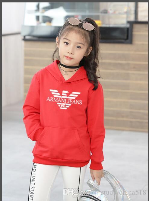 Erkekler ve kızlar için yeni tasarımcı marka hoodies 2-9 yaş arası bahar ve sonbahar yuvarlak yaka üstleri çocuk t-shirt çocuk