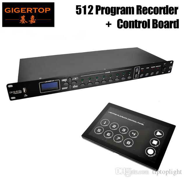 Gigertop TP-D1342 + TP-D1343 DMX 512 Channels Program Stage Light Recorder with Touchable Glass Board Freeshipping