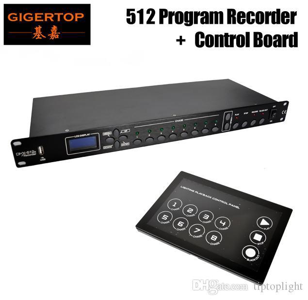 Gigertop TP-D1342 + TP-D1343 DMX 512 Kanäle Programm Bühnenscheinwerfer Recorder mit Touchable Glass Board Freeshipping