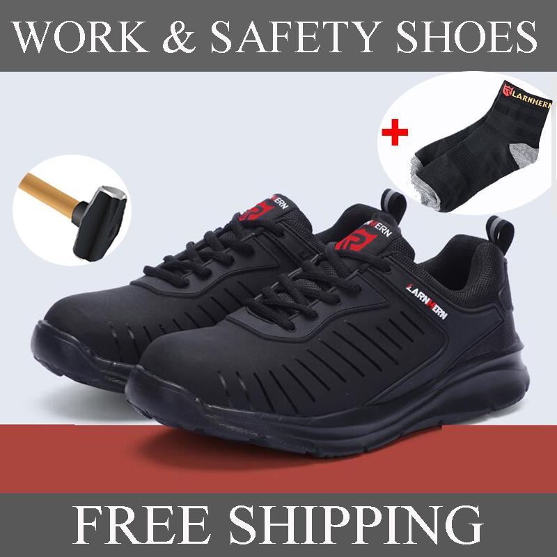 Men Work /& Safety Shoes Steel-toe Caps Anti-puncture Security Shoes Breathable Boots Working Footwear Reflective Stripe
