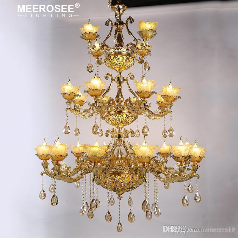 Lüks Kristal Avize Işık Fikstür Modern Asma Lambalar İçin Restoran Foyer Lustres de Cristal Armatür MD86215