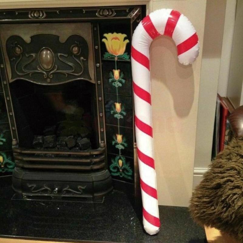 Natale grucce gonfiabili PVC gonfiabile Walker Decor Ornamenti giocattolo per bambini Capodanno regalo di natale decorazioni dell'albero