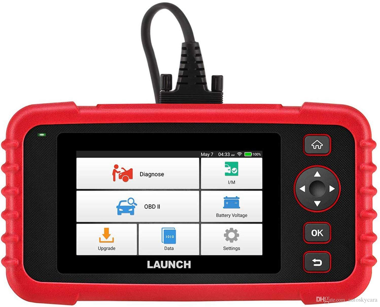 LAUNCH CRP123X OBD2 Scanner Check Engine ABS SRS Transmission Code Reader Car Diagnostic Tool LCD Touchscreen Update Version of CRP123