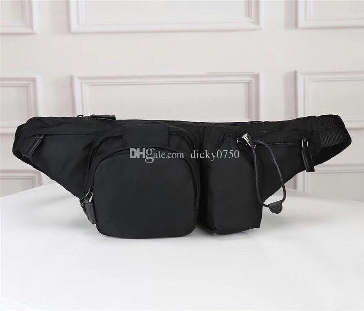 El más reciente lona impermeable Bolsa de cintura para los hombres Bumbag Cruz cuerpo hombro bolsa bolso de la cintura temperamento Bumbag Cruz paquete de Fanny hombres monedero cintura empaqueta