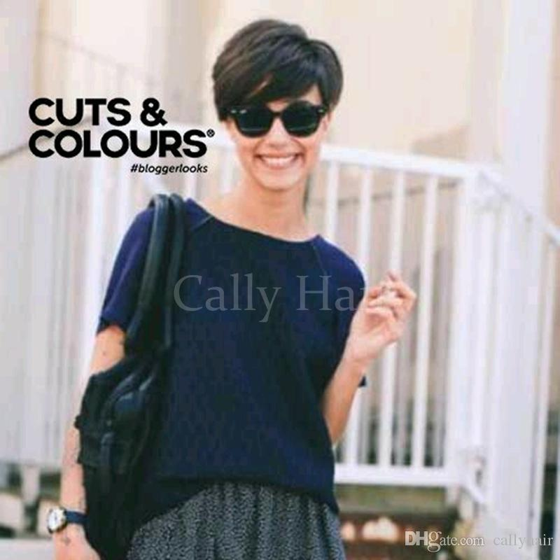 Indian hair Short Human Hair Wigs For Black Women None Lace Wig Human Hair Bob Wigs Pictures-Short-Haircuts