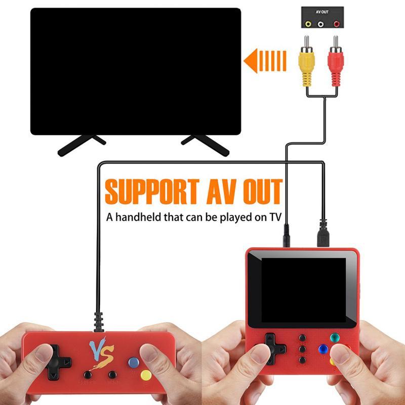 Protable Spielkonsole speichern können 500 Spiele K5 K8 Mini Retro Nostalgie Doppel-Player mit Gamepad Handheld-Spielkonsolen Game Box
