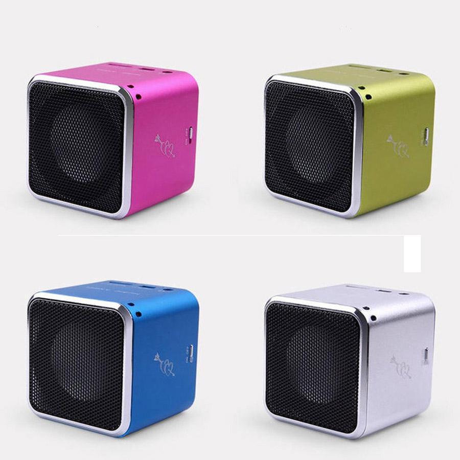 MD07 Minilautsprecher Cubic Musik-Engels-Stereo JH-MD07 Speakesrs mit FM Unterstützungs-TF-Karten-beweglichen Digital-MP3-Player mit Kristallkasten