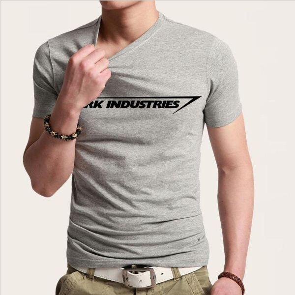 14c0d9ff102f Stark Industries Tony Stark Iron Man T Shirts Casual Novelty Print T-shirts  Short Sleeve