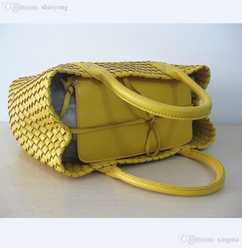 Wholesale-Large WOVEN CABAT Frauen Tasche aus Premium-Kunstleder Messenger Bags Tasche bolsa feminina 30 Farben Handtaschen BR45