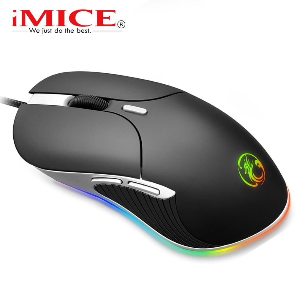 Günstige Mäuse Gaming Gamer Computer-Maus Wired Ergonomische Mause mit Kabel 6400dpi Led Spiel Mäuse RGB optische USB-PC-Maus mit Hintergrundbeleuchtung