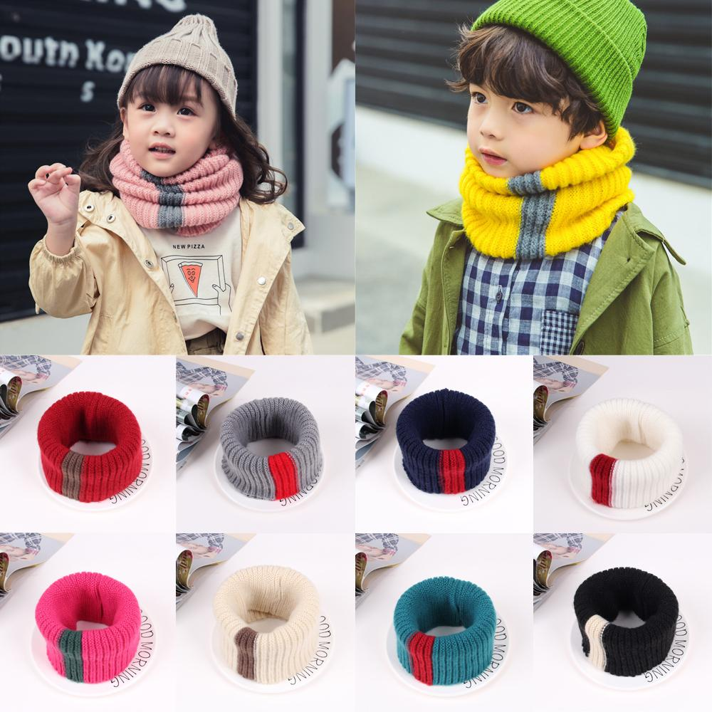 Neck Warmer Scarf Autumn Winter Warm Outfit Knitted Scarves For Kids Boys Girls